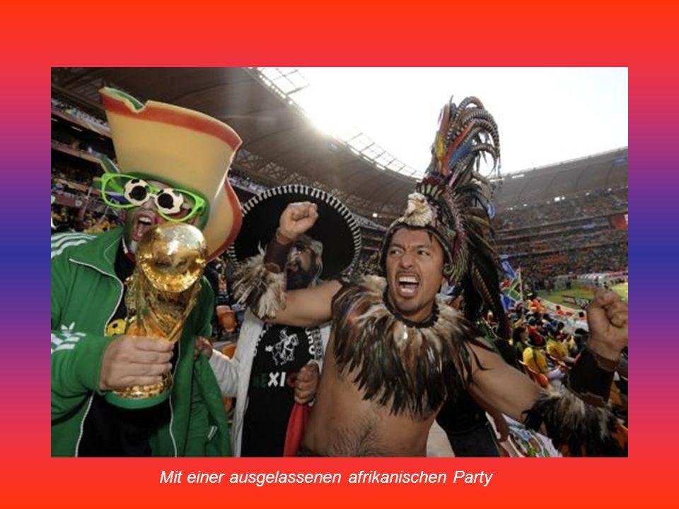 Mexikanische Fans vor dem Eröffnungsspiel