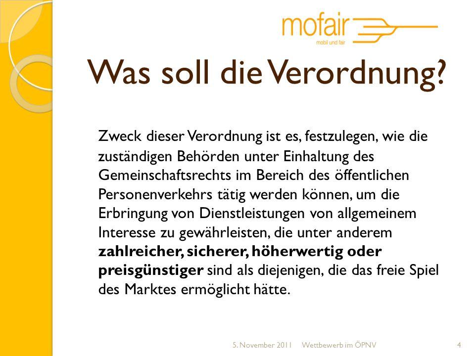 Fernbusliberalisierung kein Konkurrentenschutz Schutz des ÖPNV innerhalb von 50 km Öffentliche Betriebspflicht 5.