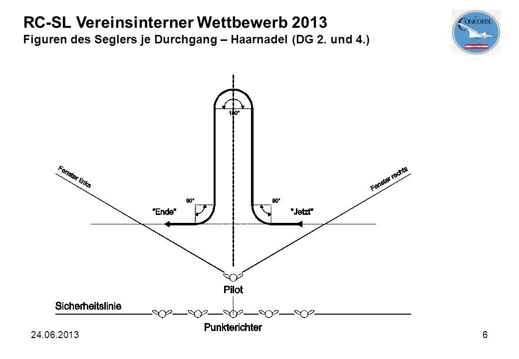 24.06.20136 RC-SL Vereinsinterner Wettbewerb 2013 Figuren des Seglers je Durchgang – Haarnadel (DG 2. und 4.)
