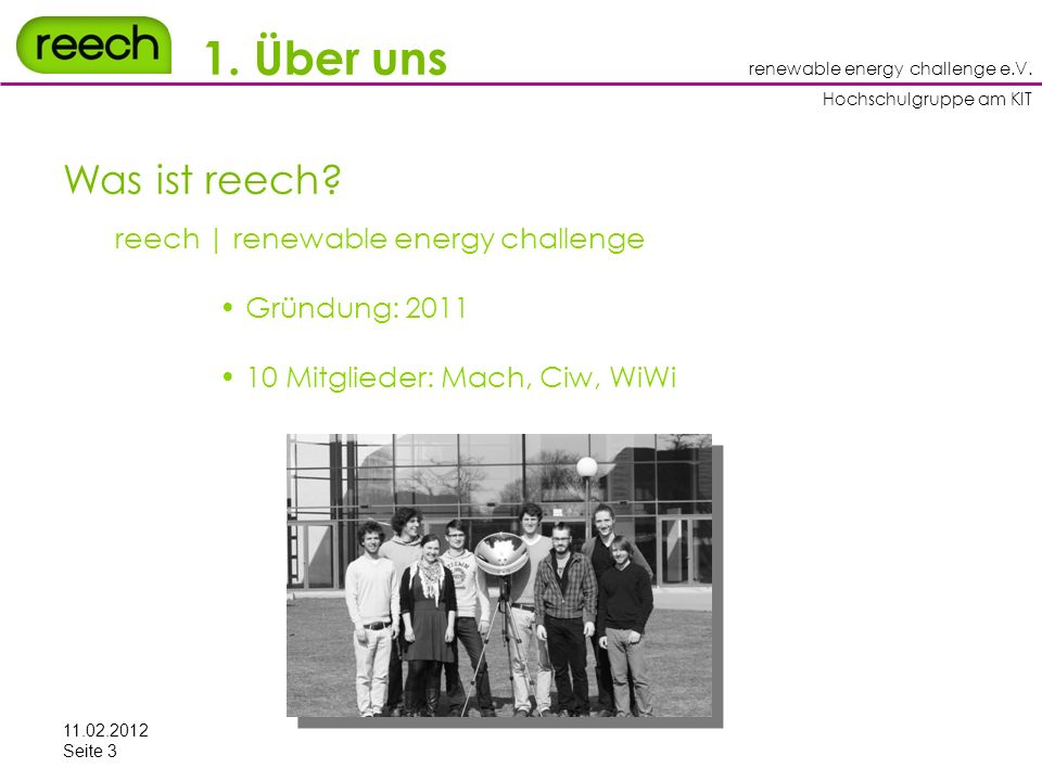 renewable energy challenge e.V.Hochschulgruppe am KIT 3.