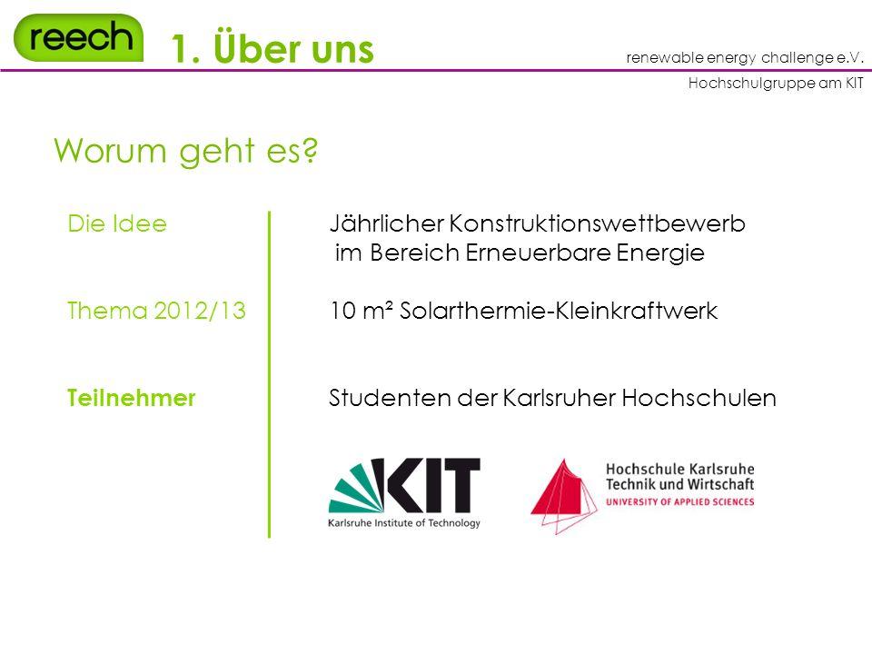 renewable energy challenge e.V. Hochschulgruppe am KIT 1.