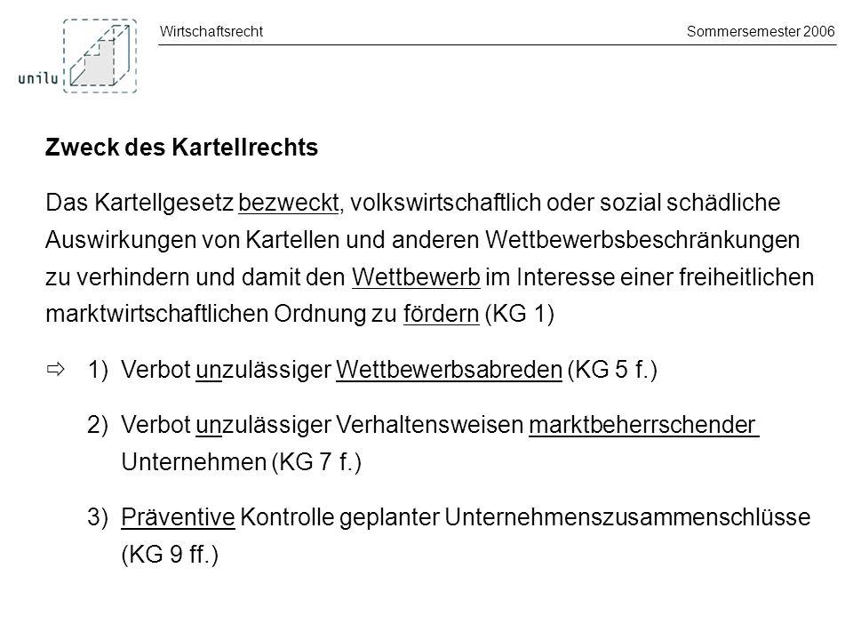 WirtschaftsrechtSommersemester 2006 1.Kapitel: Allgemeine Bestimmungen Art.