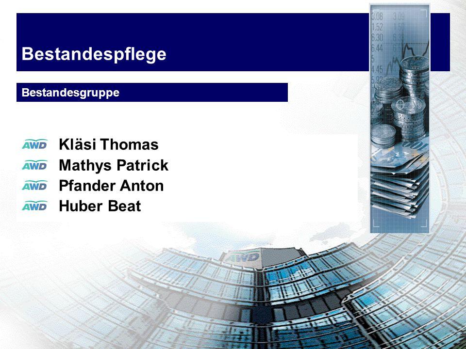 Bestandespflege Kläsi Thomas Mathys Patrick Pfander Anton Huber Beat Bestandesgruppe