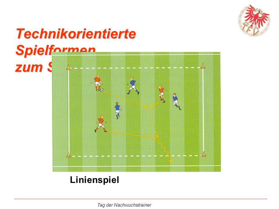 Tag der Nachwuchstrainer Technikorientierte Spielformen zum Schwerpunkt Dribbeln Linienspiel