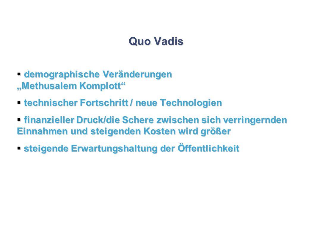 Quo Vadis demographische Veränderungen Methusalem Komplott demographische Veränderungen Methusalem Komplott technischer Fortschritt / neue Technologie