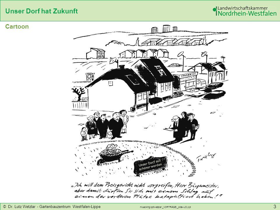 Unser Dorf hat Zukunft © Dr. Lutz Wetzlar - Gartenbauzentrum Westfalen-Lippe n\luecking\ppt\wetzlar\_VORTRÄGE\_präs-UD.ppt 3 Unser Dorf soll schöner w