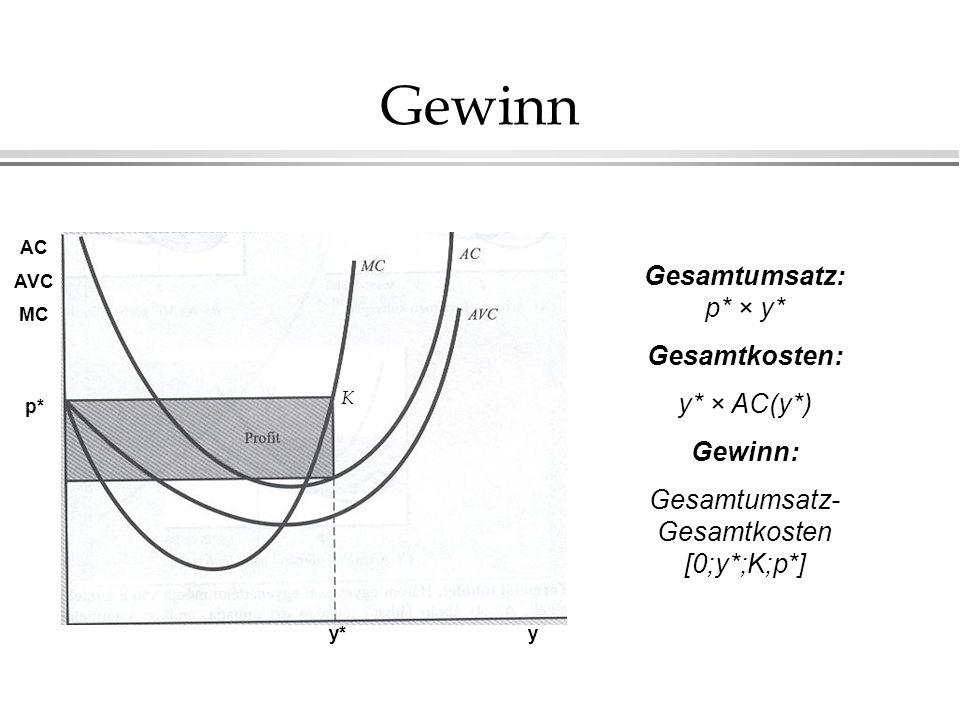 Produzentenrente I.Produzentenrente: die Fläche links von der Angebotskurve.