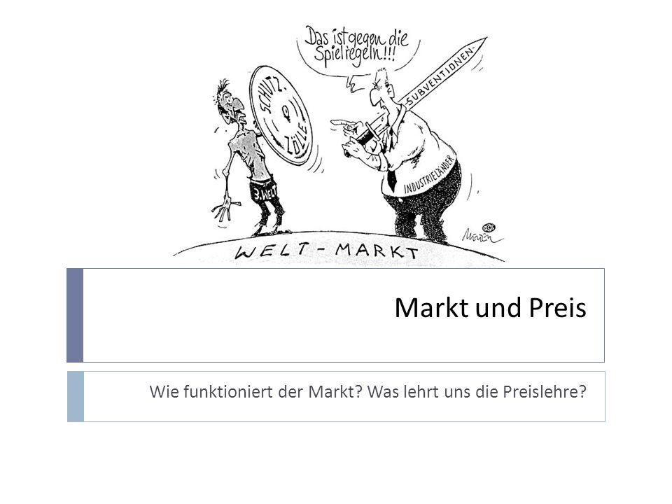 Die Marktlehre…..