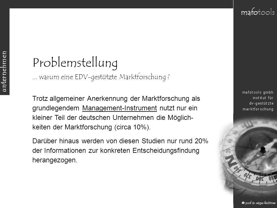 unternehmen mafotools prof.dr. edgar feichtner Problemstellung...