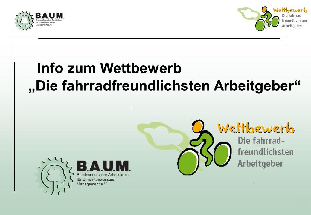 1 Info zum Wettbewerb Die fahrradfreundlichsten Arbeitgeber