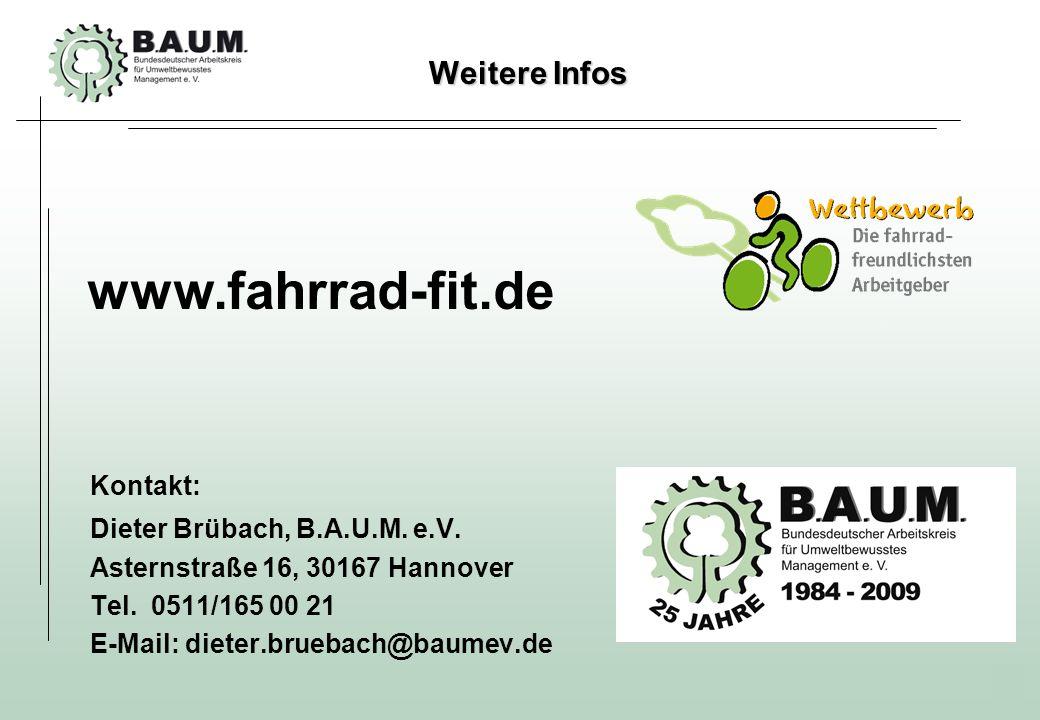 23 Kontakt: Dieter Brübach, B.A.U.M. e.V. Asternstraße 16, 30167 Hannover Tel. 0511/165 00 21 E-Mail: dieter.bruebach@baumev.de Weitere Infos www.fahr