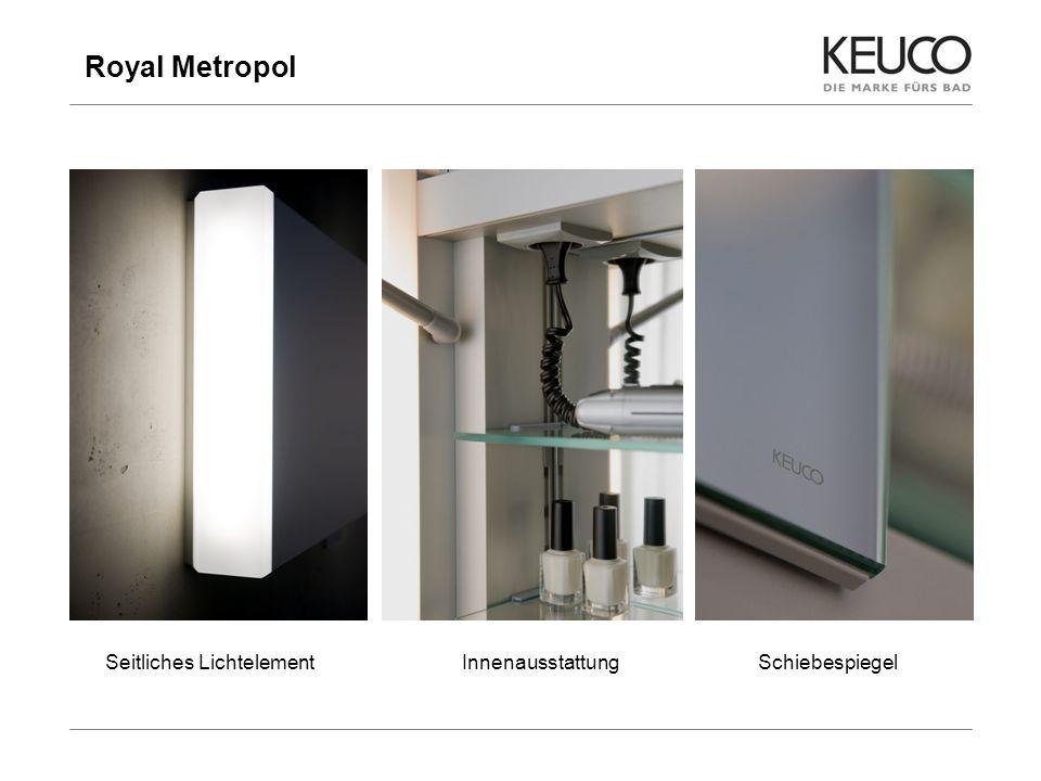 Royal Metropol 15 Preisstellung im Vergleich zum Wettbewerb - Breite 1000 mm Burgbad Accura 1000 mm 1721,00 Duravit PuraVida 1000 mm 2456,00