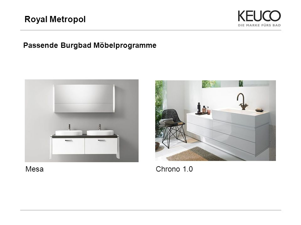 Royal Metropol 9 Passende Burgbad Möbelprogramme MesaChrono 1.0