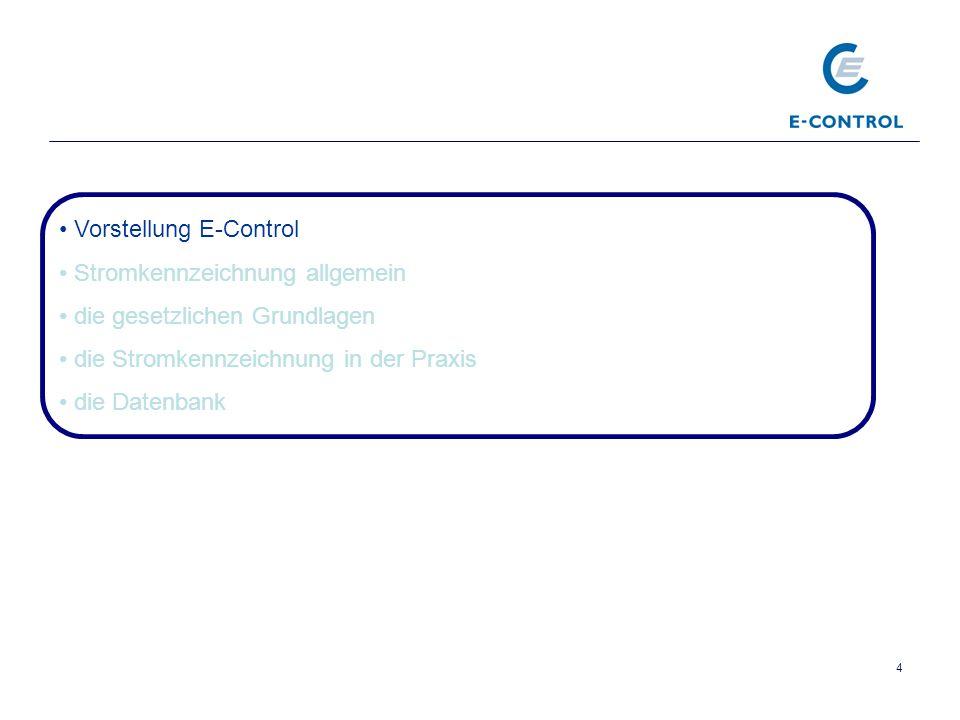 5 Wer ist E-Control.