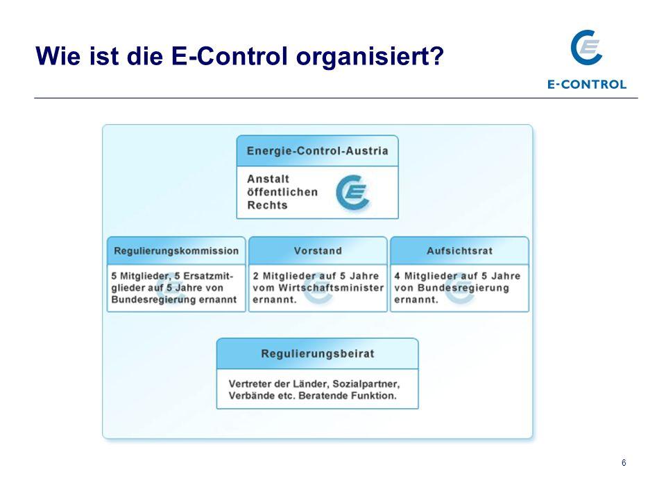 6 Wie ist die E-Control organisiert?