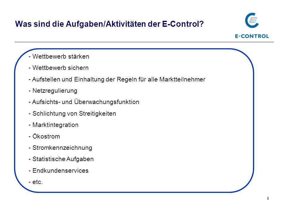 9 Inhalt Vorstellung E-Control Stromkennzeichnung allgemein die gesetzlichen Grundlagen die Stromkennzeichnung in der Praxis die Datenbank
