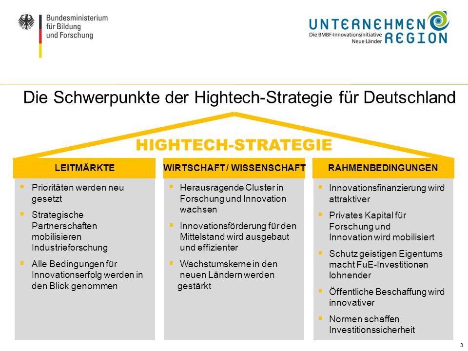 3 Prioritäten werden neu gesetzt Strategische Partnerschaften mobilisieren Industrieforschung Alle Bedingungen für Innovationserfolg werden in den Bli