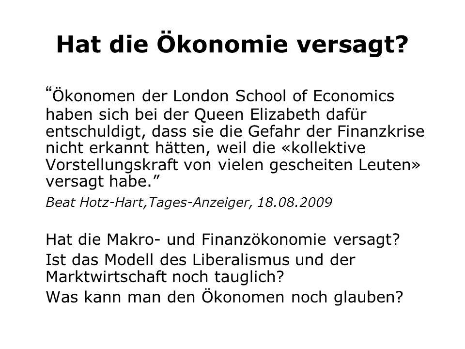 Lehrmeinungen und Realität Wirtschaftsgeschehen und Volkswirtschaftslehre im Gleichschritt: Die dominierende Lehrmeinung ist oft Ausdruck der allgemeinen Wirtschftslage.