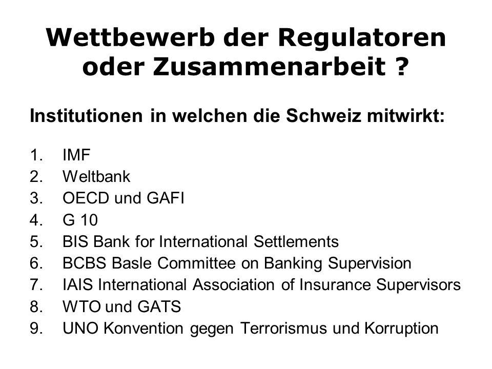Wettbewerb der Regulatoren oder Zusammenarbeit .