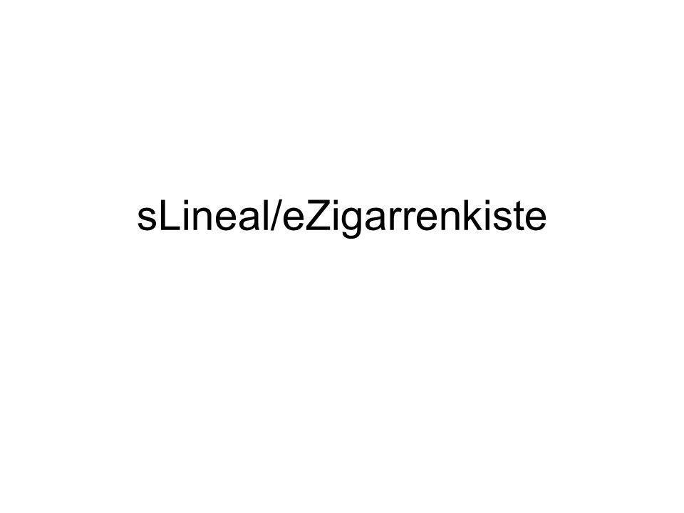 sLineal/eZigarrenkiste