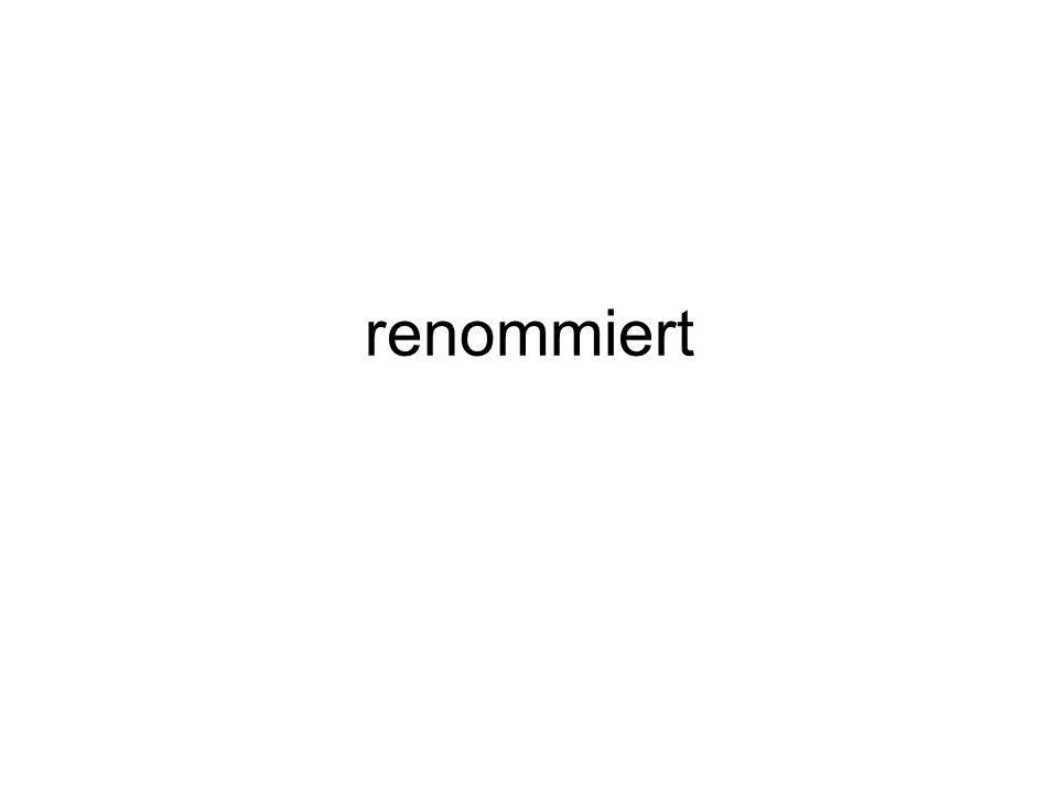 renommiert
