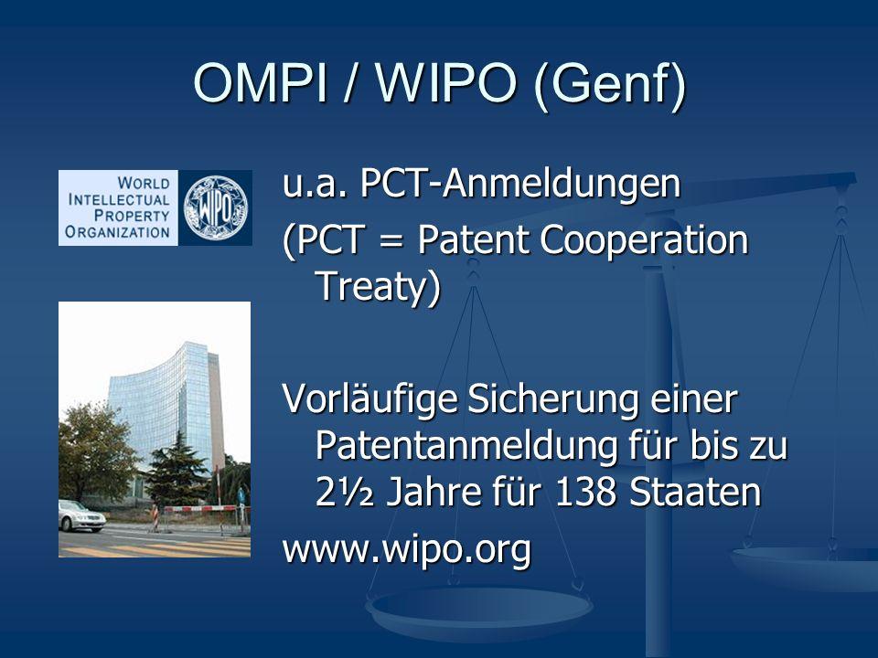 OMPI / WIPO (Genf) u.a.