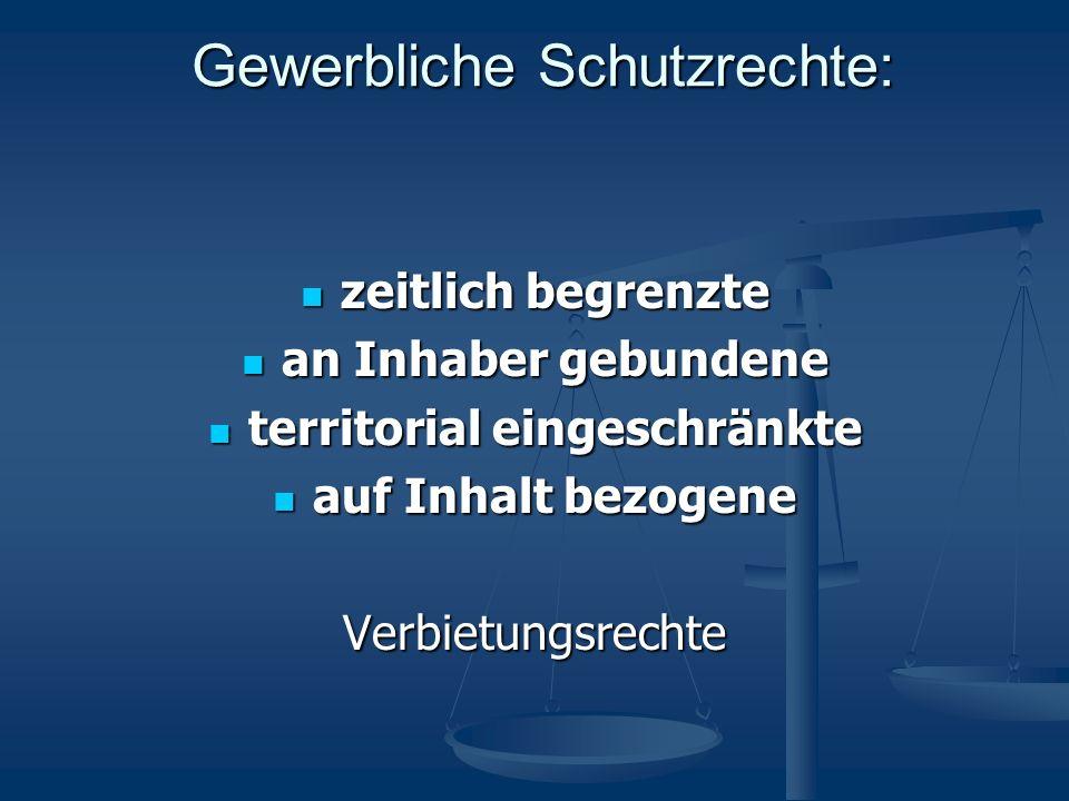 Patent vs.Gebrauchsmuster DeutschesPatentDeutschesGebrauchsmuster Max.