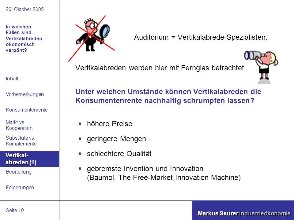 Folgerungen Beurteilung Vertikalabreden Substitute vs.