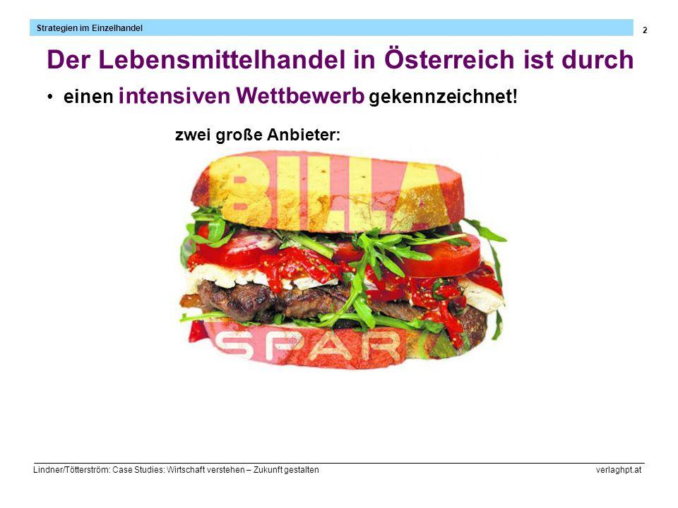 2 Lindner/Tötterström: Case Studies: Wirtschaft verstehen – Zukunft gestalten verlaghpt.at Der Lebensmittelhandel in Österreich ist durch einen intens