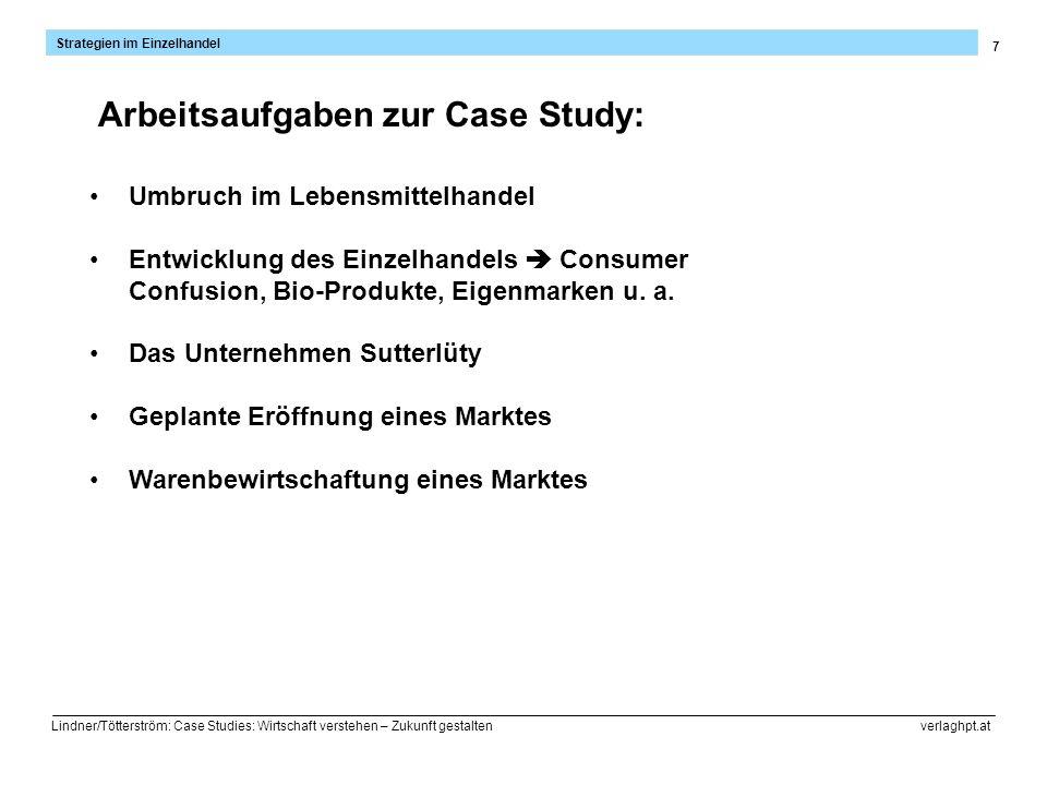 7 Strategien im Einzelhandel Lindner/Tötterström: Case Studies: Wirtschaft verstehen – Zukunft gestalten verlaghpt.at Umbruch im Lebensmittelhandel En