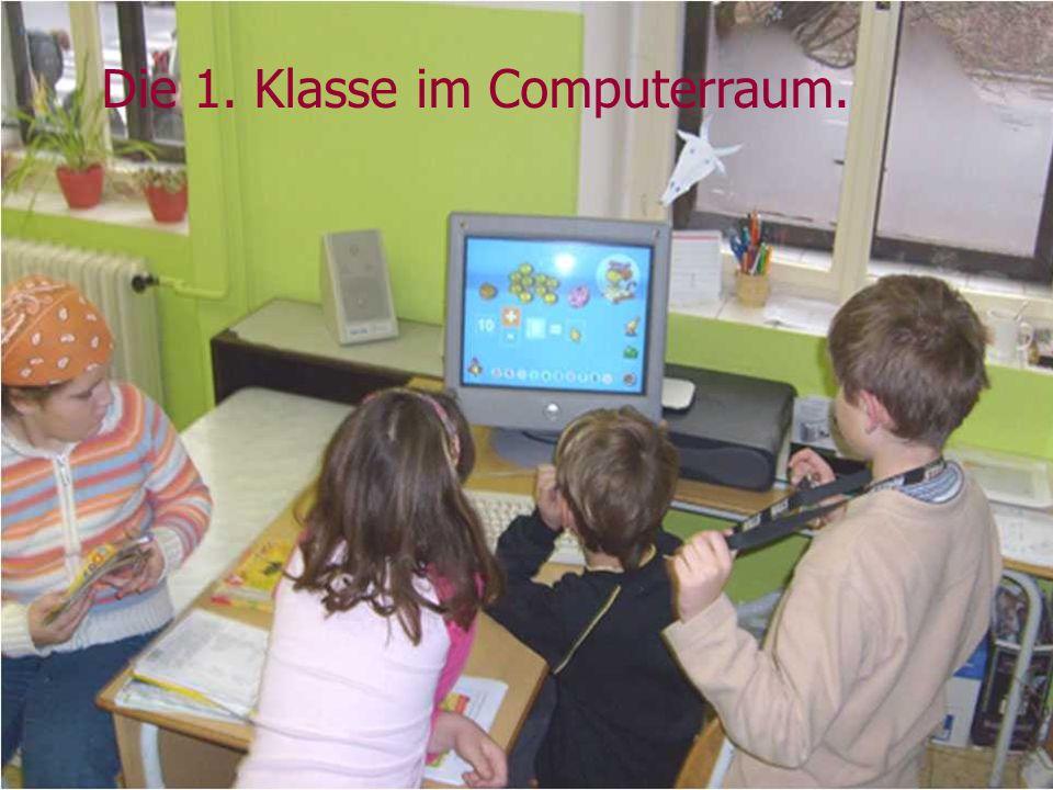 Die 1. Klasse im Computerraum.
