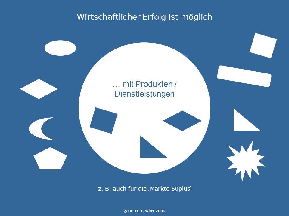 © Dr. H.-J. Wirtz 2006 … mit Produkten / Dienstleistungen z.