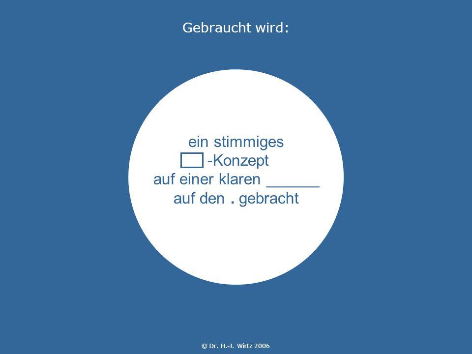 © Dr. H.-J. Wirtz 2006 ein stimmiges -Konzept auf einer klaren ______ auf den.