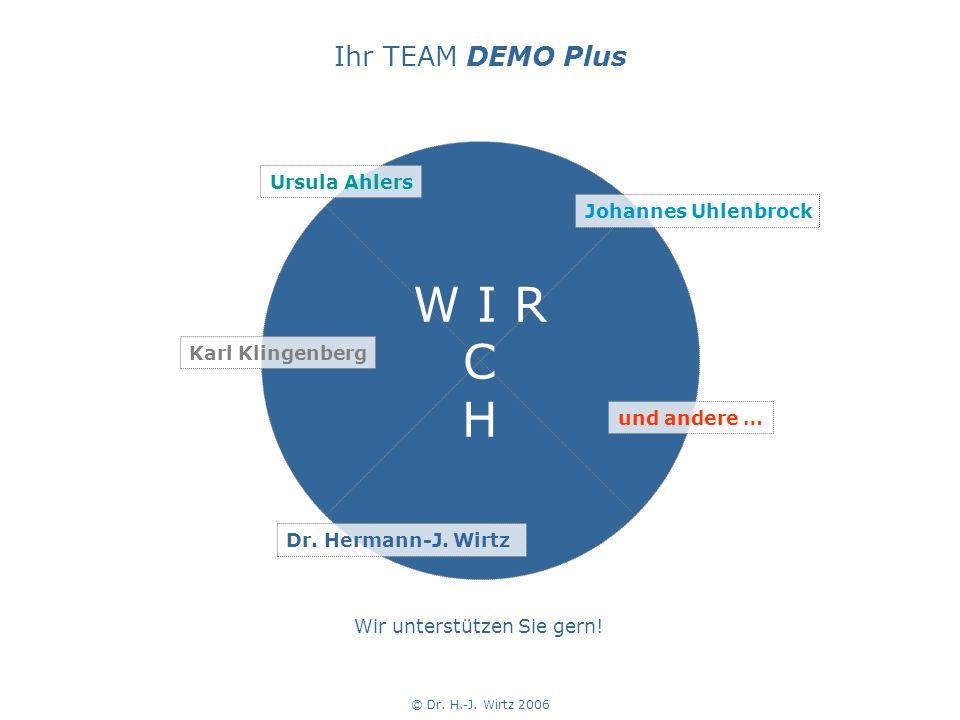 © Dr.H.-J. Wirtz 2006 Wir unterstützen Sie gern. W I R C H Dr.