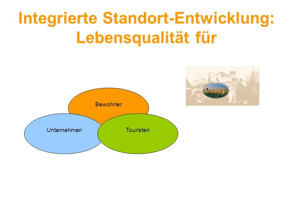 Integrierte Standort-Entwicklung: Lebensqualität für Bewohner UnternehmenTouristen