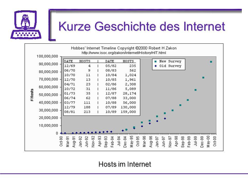 Kurze Geschichte des Internet Hosts im Internet