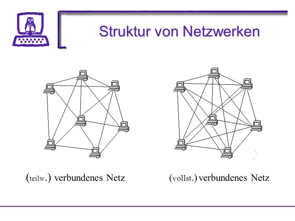 Struktur von Netzwerken ( teilw.) verbundenes Netz ( vollst.) verbundenes Netz