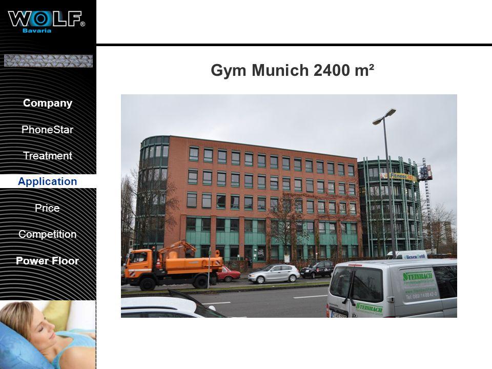 Vorstellung WBG PhoneStar Bearbeitung Anwendung Preis Wettbewerb Company PhoneStar Treatment Application Price Competition Power Floor Gym Munich 2400