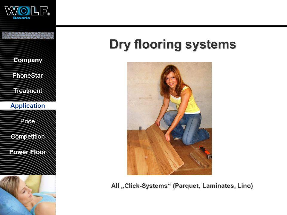 Vorstellung WBG PhoneStar Bearbeitung Anwendung Preis Wettbewerb Company PhoneStar Treatment Application Price Competition Power Floor Dry flooring sy