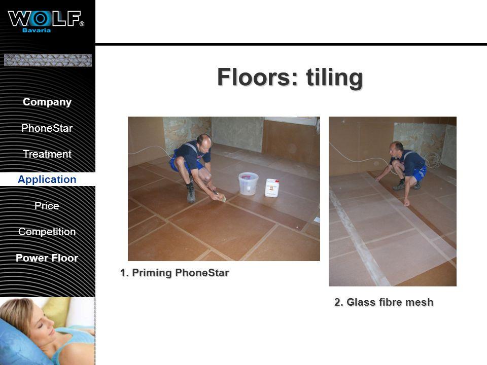 Vorstellung WBG PhoneStar Bearbeitung Anwendung Preis Wettbewerb Company PhoneStar Treatment Application Price Competition Power Floor Floors: tiling