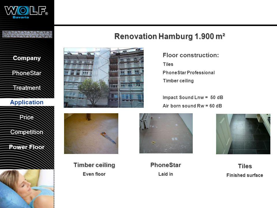 Vorstellung WBG PhoneStar Bearbeitung Anwendung Preis Wettbewerb Company PhoneStar Treatment Application Price Competition Power Floor Renovation Hamb
