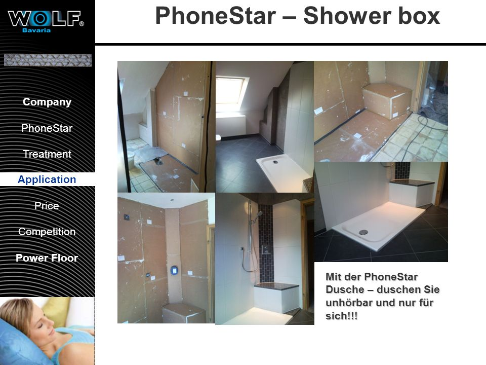 Vorstellung WBG PhoneStar Bearbeitung Anwendung Preis Wettbewerb Company PhoneStar Treatment Application Price Competition Power Floor PhoneStar – Sho