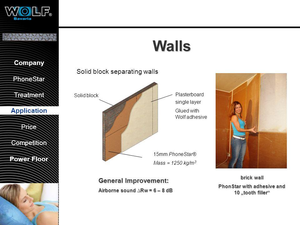 Vorstellung WBG PhoneStar Bearbeitung Anwendung Preis Wettbewerb Company PhoneStar Treatment Application Price Competition Power Floor Walls brick wal