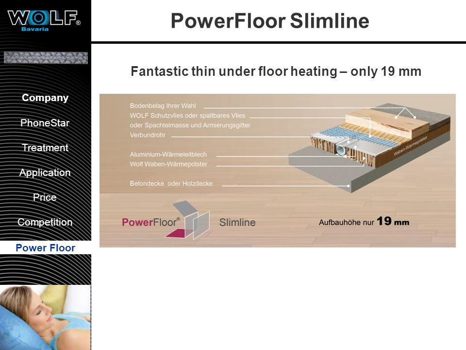 Vorstellung WBG PhoneStar Bearbeitung Anwendung Preis Wettbewerb Company PhoneStar Treatment Application Price Competition Power Floor PowerFloor Slim