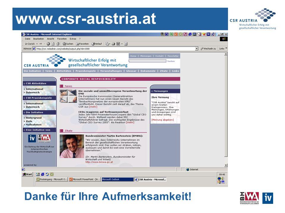www.csr-austria.at Danke für Ihre Aufmerksamkeit!