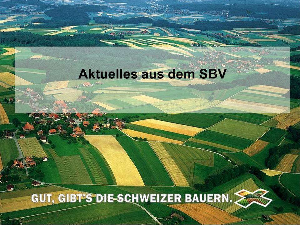 Schweizerischer Bauernverband Union Suisse des Paysans Unione Svizzera dei Contadini © SBV/USP Aktuelles aus dem SBV