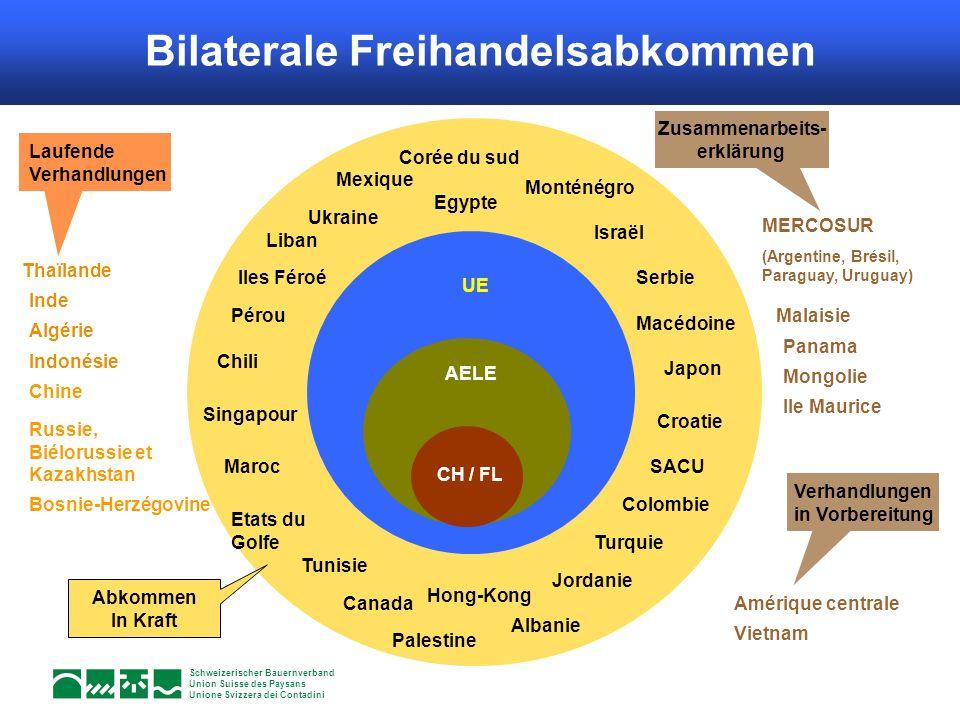 Schweizerischer Bauernverband Union Suisse des Paysans Unione Svizzera dei Contadini UE Canada Mexique Chili Maroc Tunisie Turquie Egypte SACU AELE CH