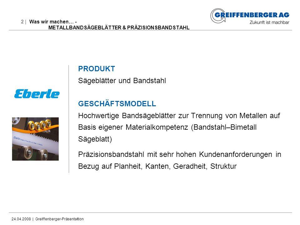 24.04.2008 | Greiffenberger-Präsentaition Disclaimer Dieses Dokument enthält zukunftsbezogene Aussagen und Informationen.