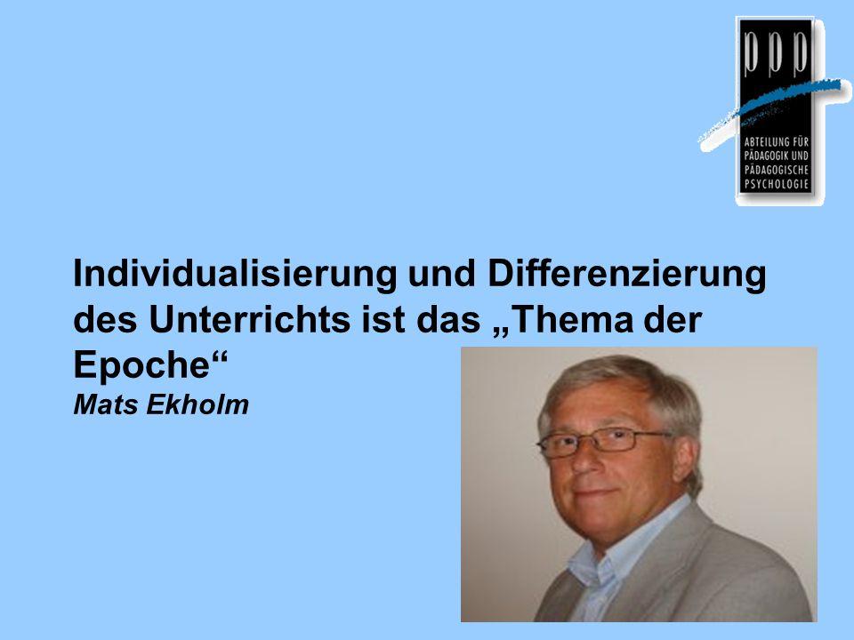 Individualisierung im Unterricht – das pädagogische Thema der Epoche.