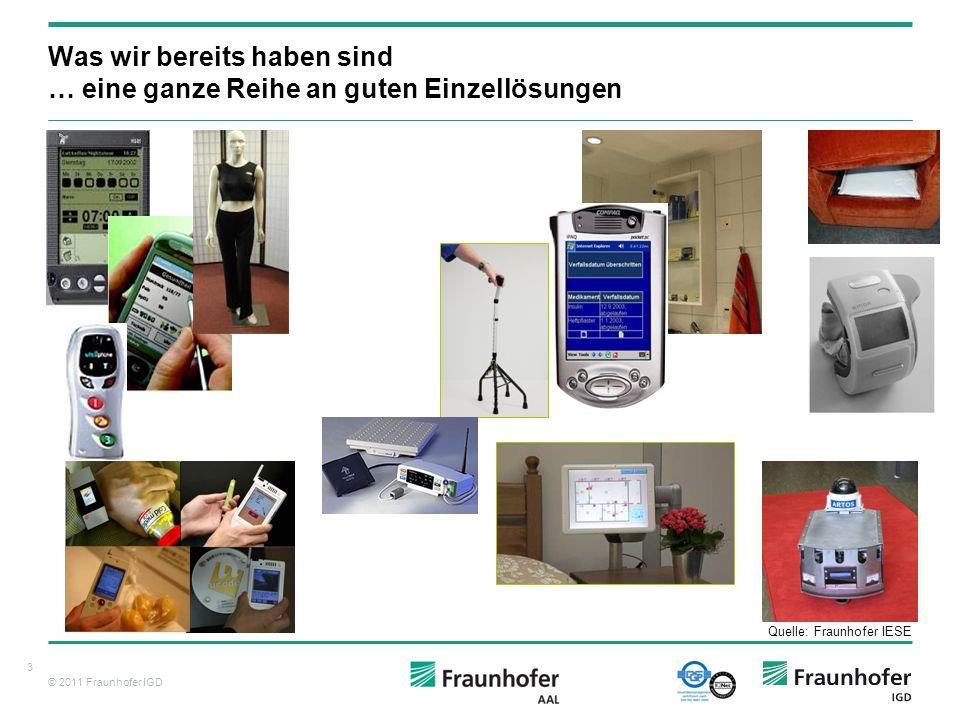 © 2011 Fraunhofer IGD 14 Was wird für eine solche AAL-Umgebung benötigt